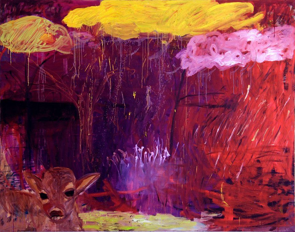 Landskap, olja på duk, 160x190cm 2004 Marika Holm