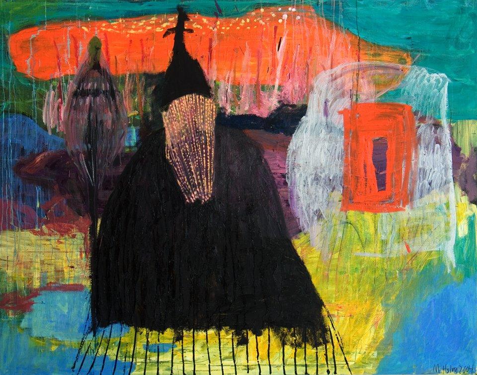 Orakel, olja på duk 160x190 cm 2004, Marika Holm